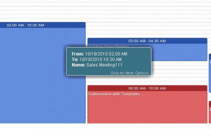 Web2Cal Ajax Events Calendar - Hover Over Events Demo