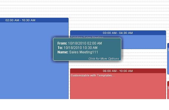 Hover (Tooltip ) Demo - Web2Cal - Ajax events Calendar
